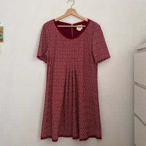 {anthropologie} maeve dora red and white dress